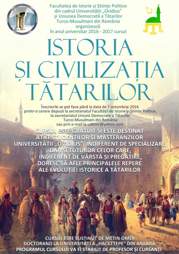 Afis Istoria si civilizatia tatarilor 2016